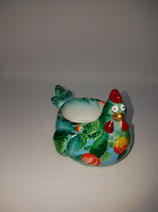 Pomme Pidou theelichthouder - kip - S cactus blauw
