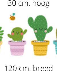 Raamstickers cactus | Planten raamstickers | Stickers | Raamdecoratie | Raamversiering | Raamfolie | Zelfklevende raamstickers | Blijderij