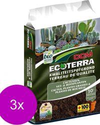 Dcm Potgrond Ecoterra Cactussen - Potgrond Turf - 3 x 10 l Bio