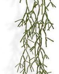 Rhipsalis Trigona kunsthangplant 100 cm I Namaak Plant Hangend Rhipsalis Trigona I Decoratieve Groene Nep Plant Rhipsalis Trigona